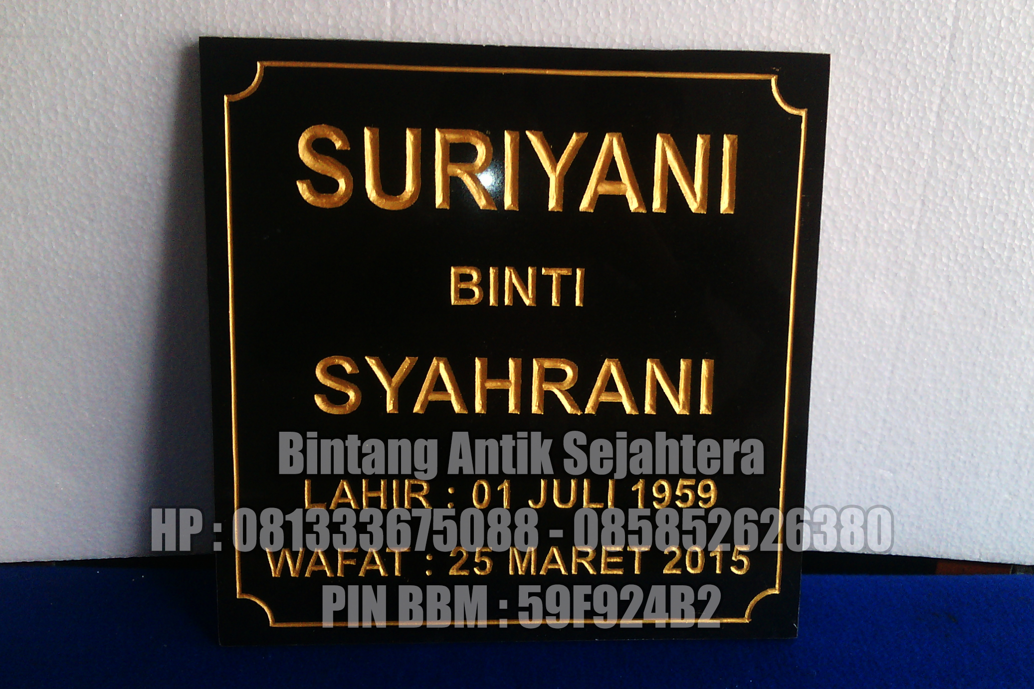 Contoh Nisan Granit | Nisan Granit Surabaya