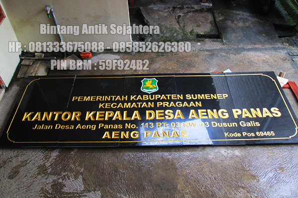 Prasasti Name Board Batu Granite