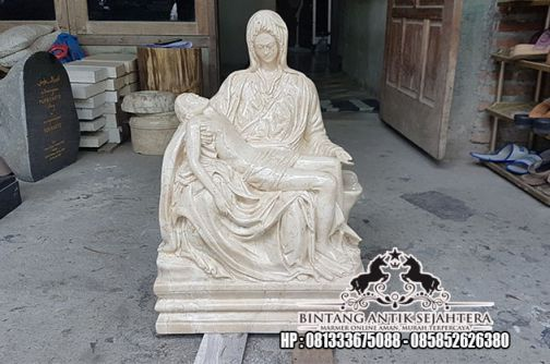 Patung Marmer Antik   Jual Patung Pieta   Harga Patung Pieta