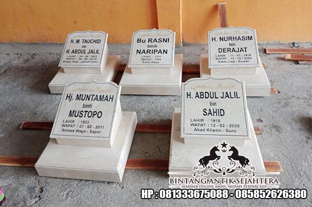 Contoh Nisan Marmer   Model Batu Nisan Kuburan Islam