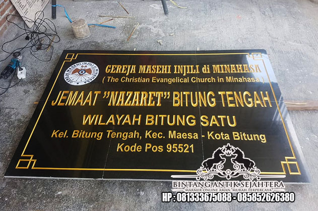 Harga Papan Nama Granit