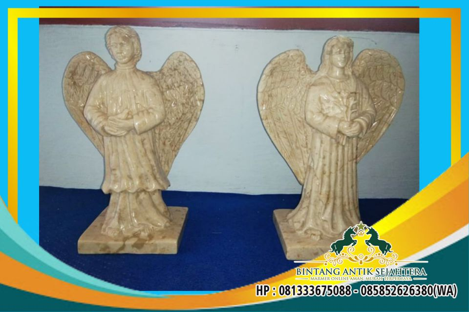 Patung Malaikat Bersayap Bahan Batu Marmer Tulungagung