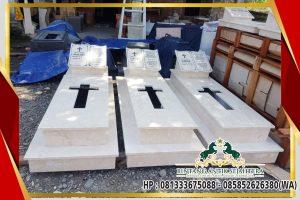 Model Kuburan Katolik Minimalis Bahan Marmer Tulungagung