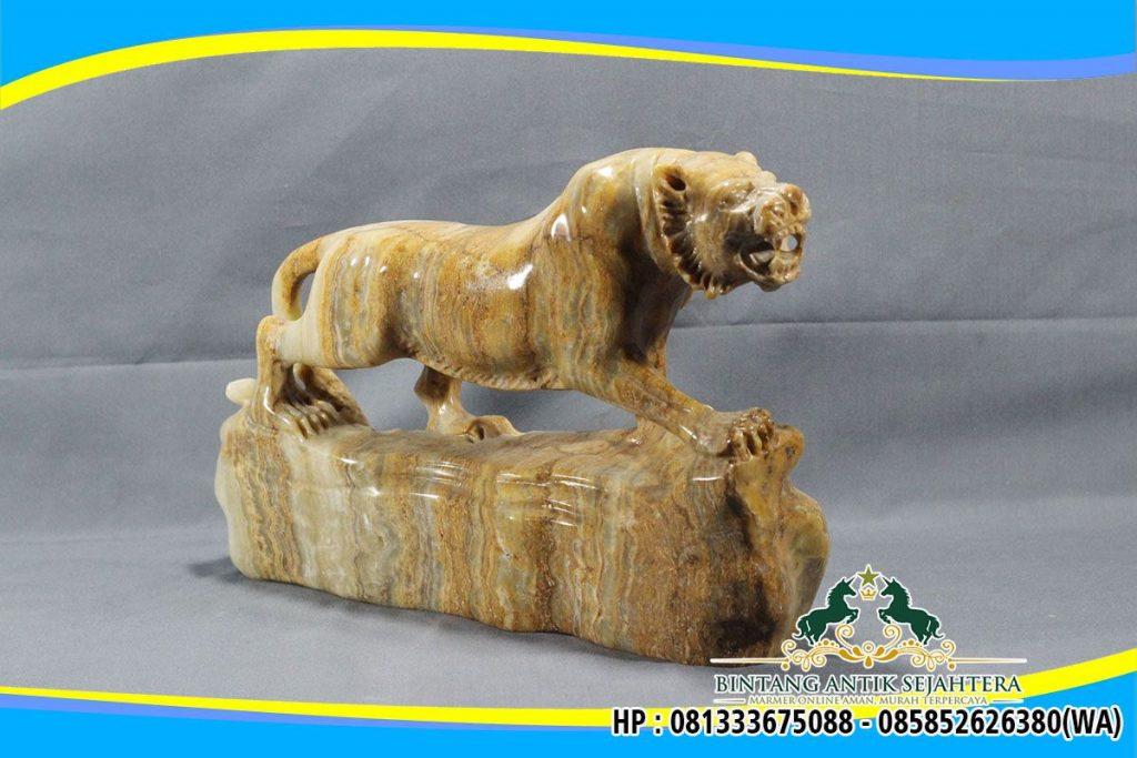 Model Patung Macan Batu Onyx